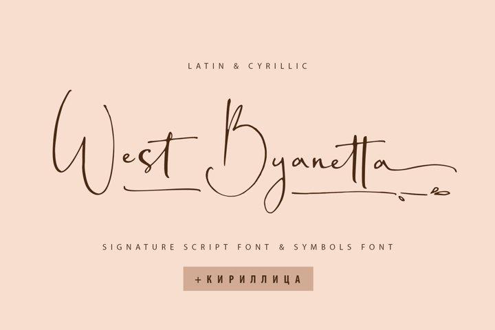 West Byanetta font Cyrillic & Extras