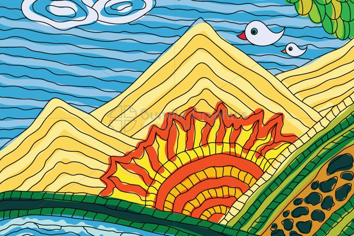 Sun Rise - Illustrative Background