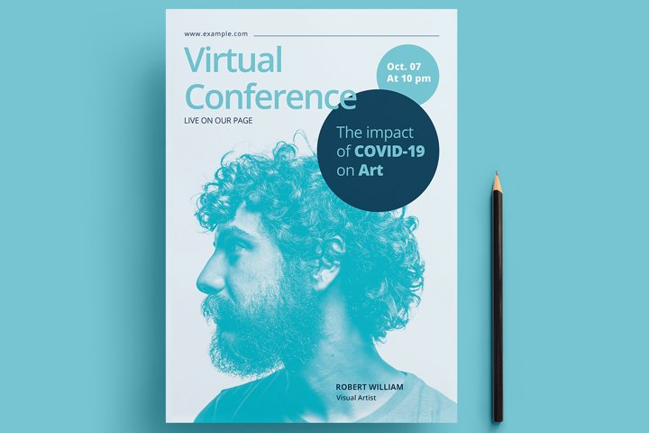 Virtual Conference Flyer Template