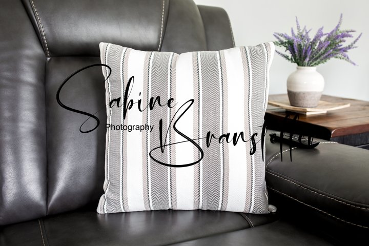 Mockup - Square White And Gray Pillow On Couch Photography
