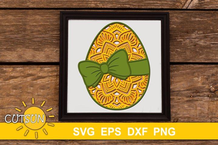 3D Layered Easter Egg Mandala SVG - 5 layers   Easter SVG