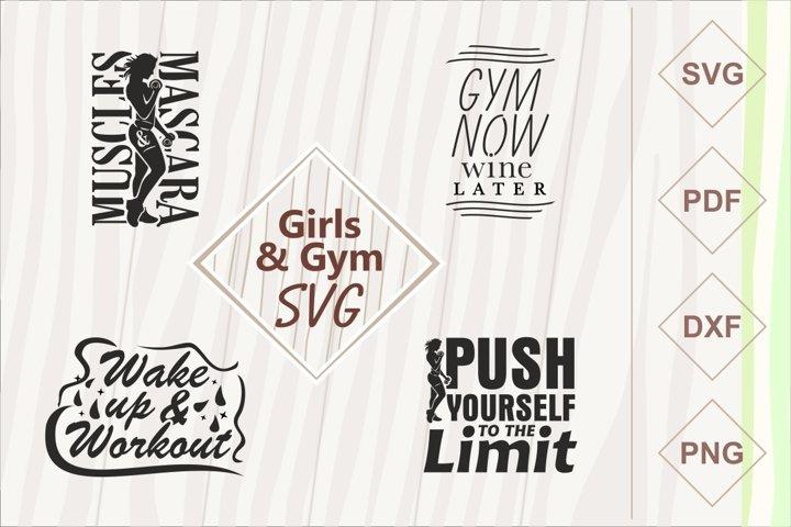 Girls and gym SVG bundle
