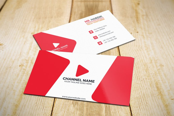 Professional Youtuber Business Card