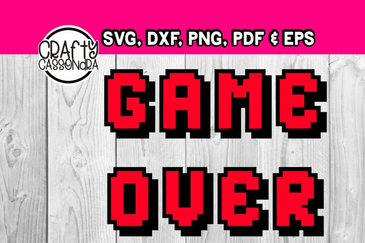 Video game - Game Over - Vide game font - Layered svg file