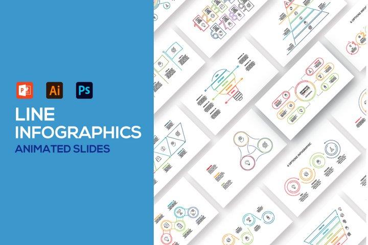 Line animated infographics