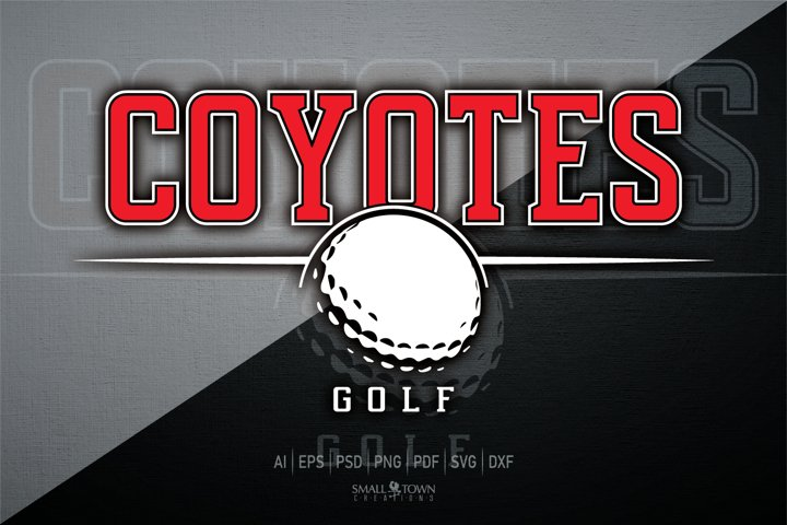 Coyotes Golf, Golf, Sports logo, PRINT, CUT & DESIGN