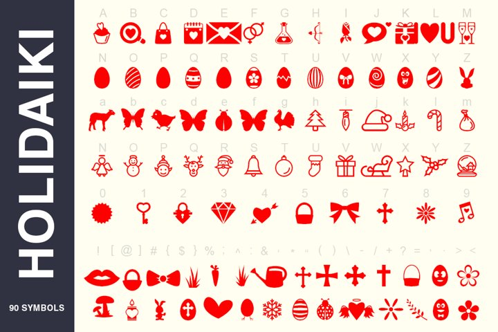 Symbols Font Collection - 450 Elements - Free Font of The Week Design3