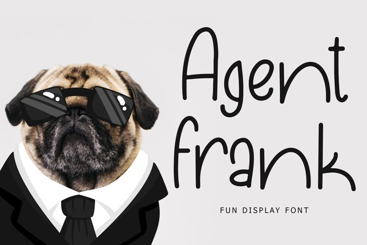 Agent Frank Fun Display Font