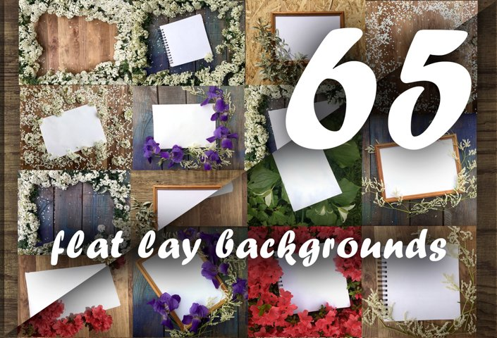 Flat lay photos of notebook for your