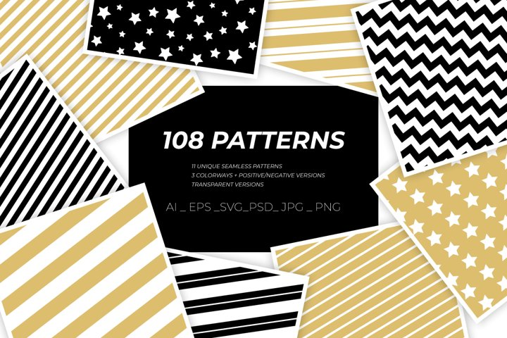 108 Christmas wrapping paper patterns