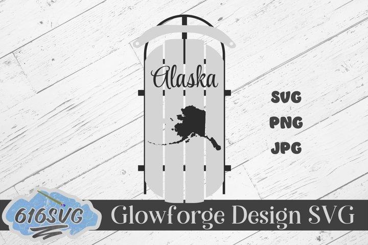 Alaska State Decorative Sled SVG, Designed For Lasers