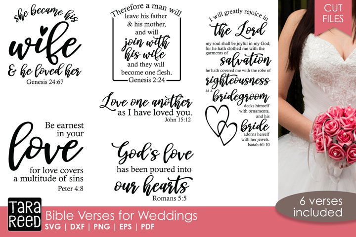 Bible Verses for Weddings - SVG and Cut Files for Crafters