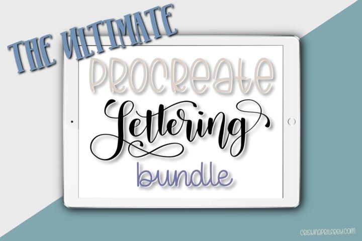 The Ultimate Procreate Lettering Bundle