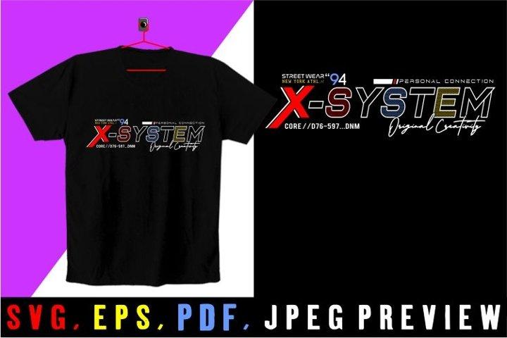 x system t shirt graphics