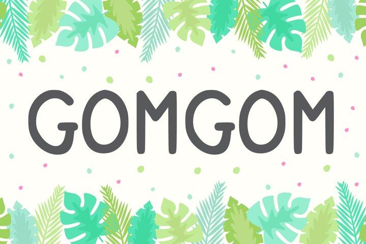 Gomgom | Handwriting Font