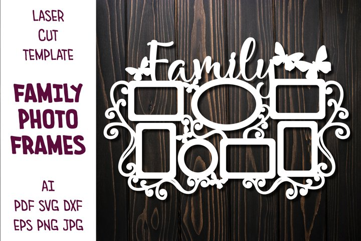 Photo Frames with sign Family, Frame for Family Photos