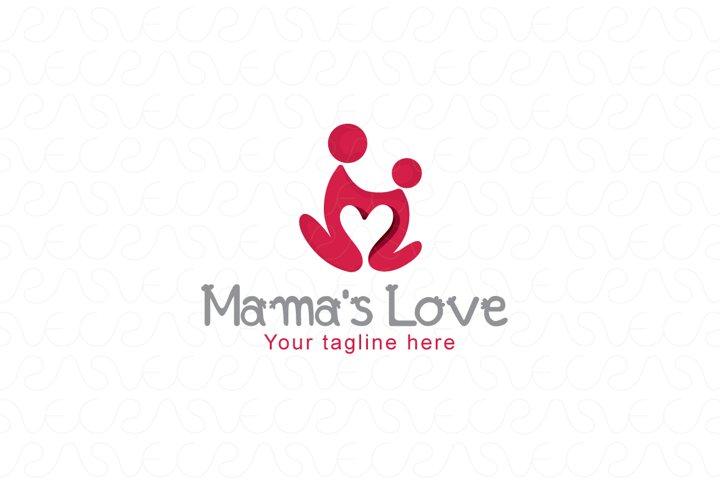 Mamas Care - Human Icon Logo Template