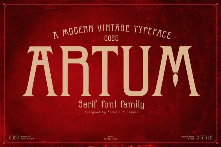 Artum - Serif font family