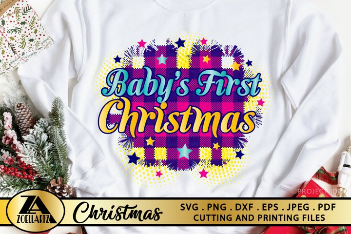 Babys First Christmas PNG for Sublimation Christmas PNG