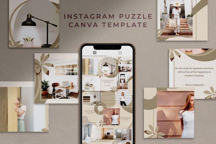 Instagram Puzzle Canva Template  Mink