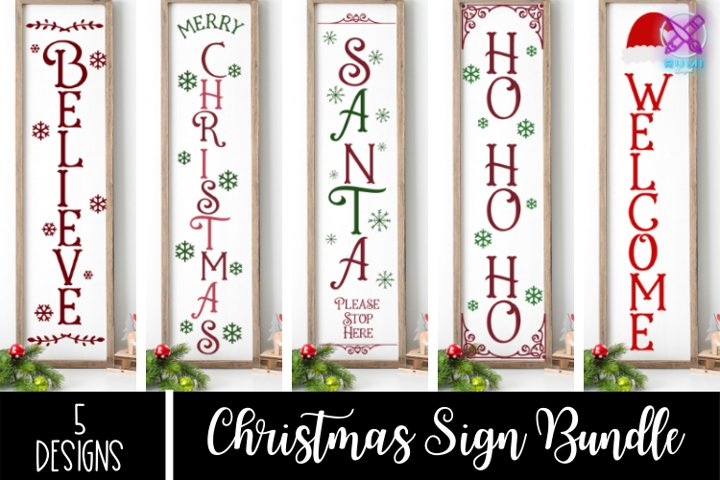 Christmas Sign Bundle, Christmas Front Porch Sign SVG