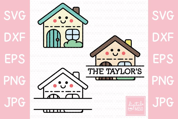 Vector House SVG - Kawaii Vector