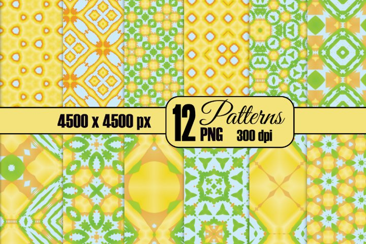 12 Summer All Over Seamless Patterns