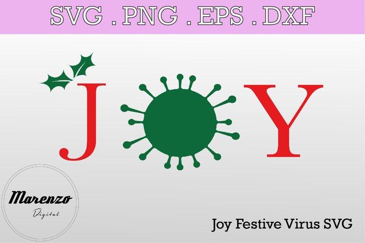 Joy Festive Virus SVG PNG EPS DXF