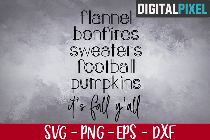 Flannel Bonfires Sweaters Svg, Fall Svg, Autumn Svg, Pumpkin