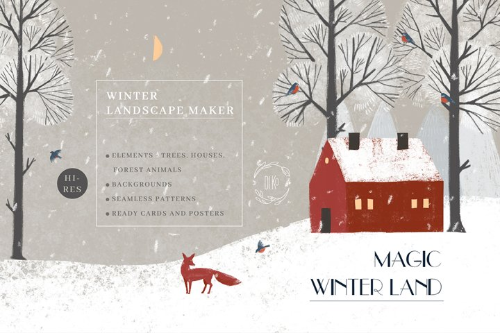 Magic Winter Land. Landscape maker.