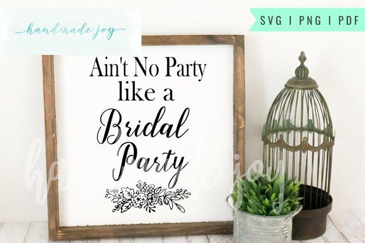 Bridal Party SVG cut file