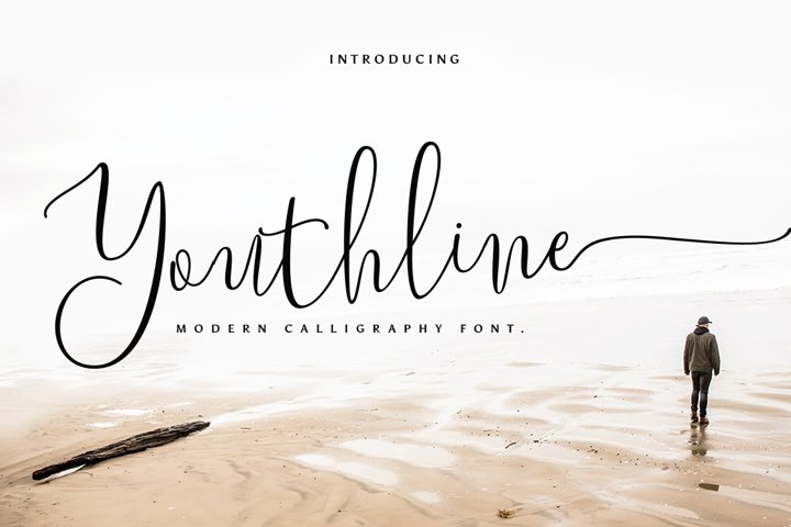 Youthline Modern Script Font