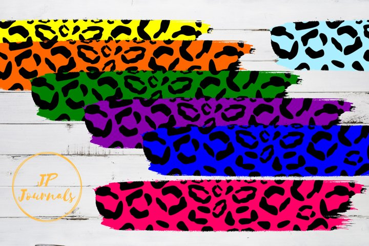 Colorful Sublimation Cheetah Print Brush Strokes