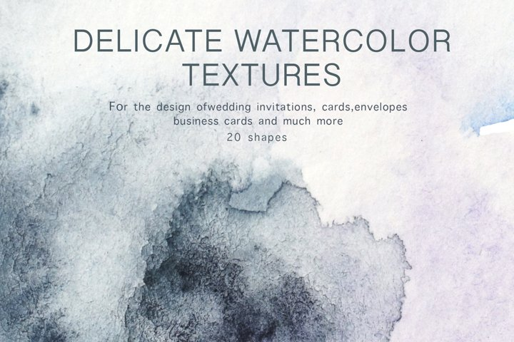 Watercolor textures for invitations