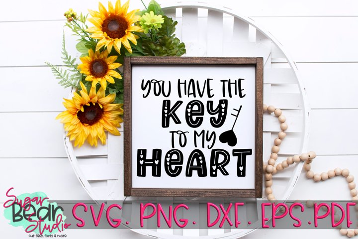 Key to my Heart - A Valentine SVG example 1