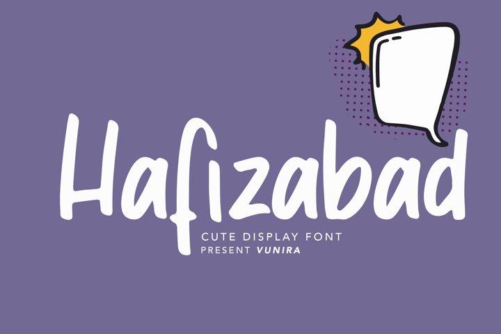 Hafizabad | Cute Display Font