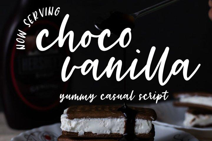 Choco Vanilla Handwritten Script Typeface