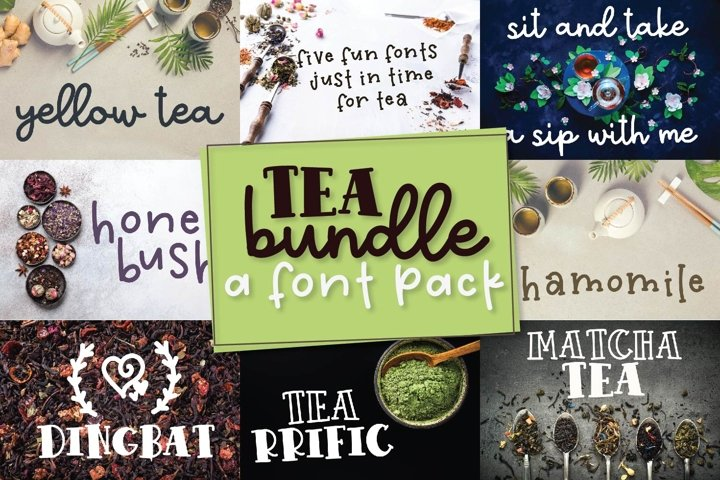 Tea Bundle - A Fun Font Bundle with Varie-Tea!!