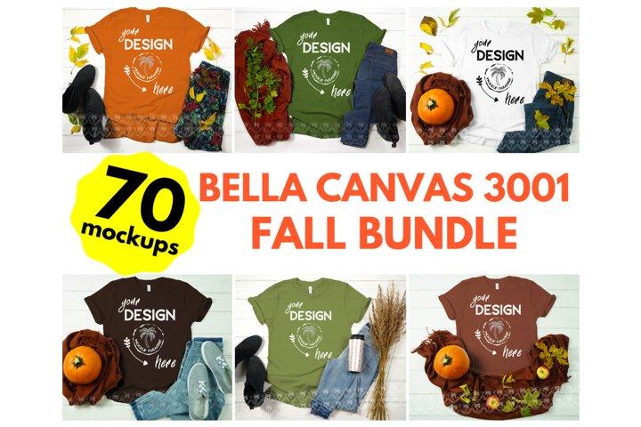 Bella Canvas Mockup Bundle - Bella Canvas 3001 Tshirt Bundle