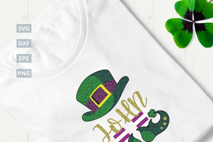 St. Patricks Day Leprechaun SVG Cut File|SVG |DXF |EPS |PNG