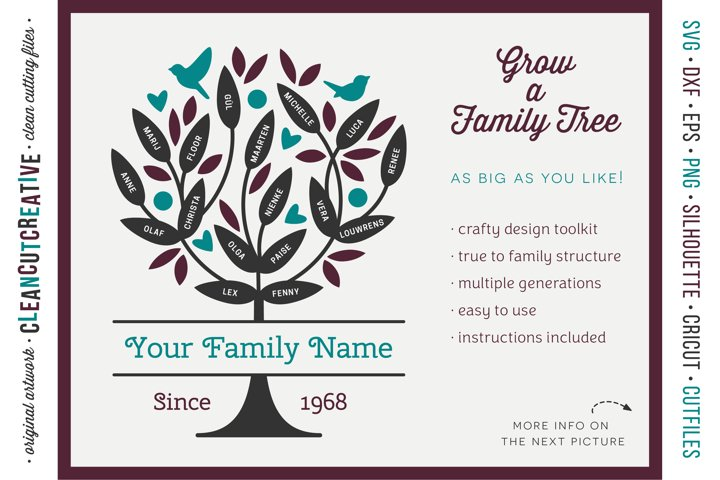 Grow a FAMILY TREE! - crafter design toolkit - SVG cutfiles