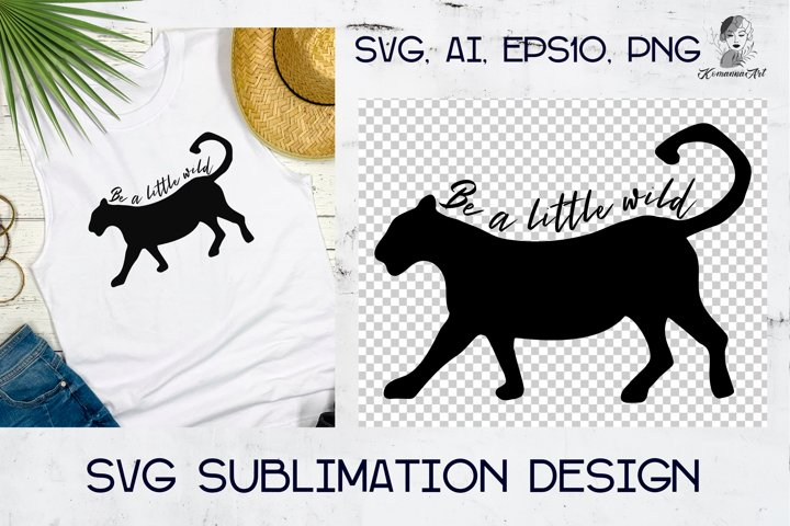 Wild silhouette panther, leopard, cat - Cut SVG for Crafters