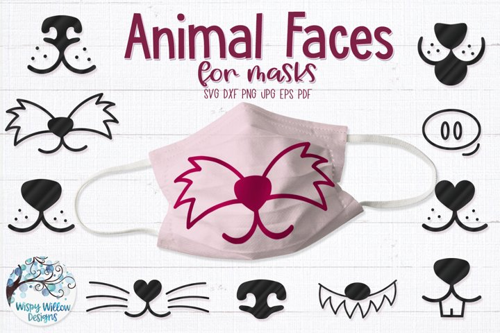 Animal Faces for Masks SVG Cut Files