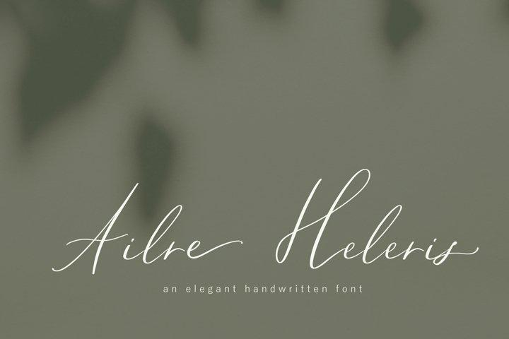 Ailre Heleris, an elegant script font