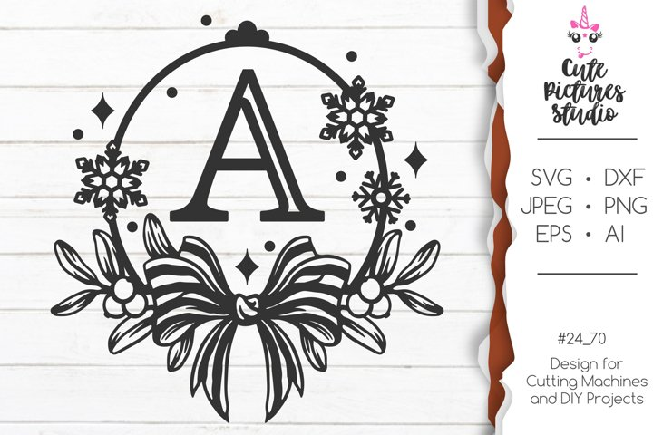 Wedding monogram frame SVG png,Christmas monogram Cricut svg