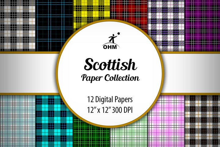 SCOTTISH DIGITAL PAPERS Collection, Printable Paper