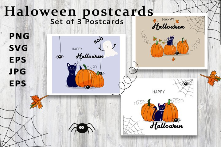 Halloween greeting cards png