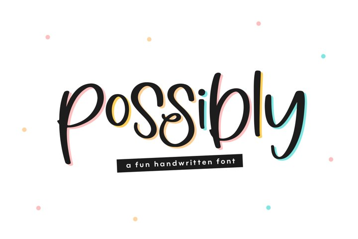 Possibly - A Quirky Handwritten Font