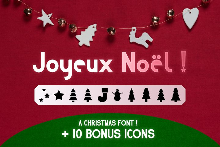 Christmas Tree Font SVG Bonus Icons Holiday Seasonal Vector
