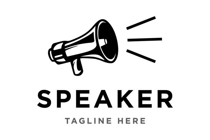 Speaker logo design template